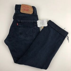 Levi's 501 distressed high waist jeans